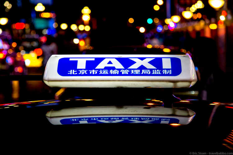 The Beijing China Taxi Scam