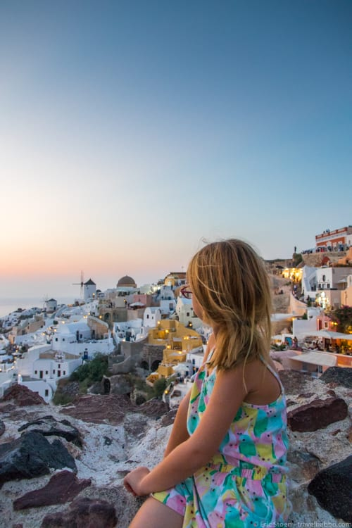 Day trip to Santorini - The view from the sunset spot in Oia