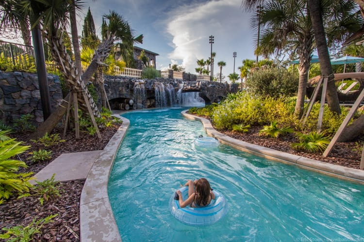 Four Seasons Orlando - Relaxing on the lazy river