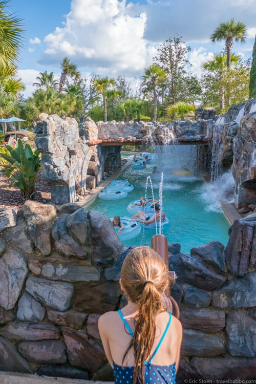 Four Seasons Orlando - Playing at the lazy river