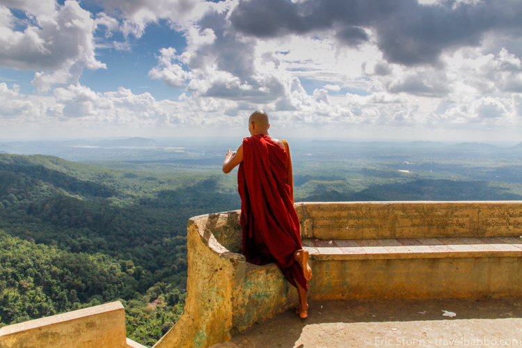 Places to visit in Myanmar: At the top of Taung Kalat