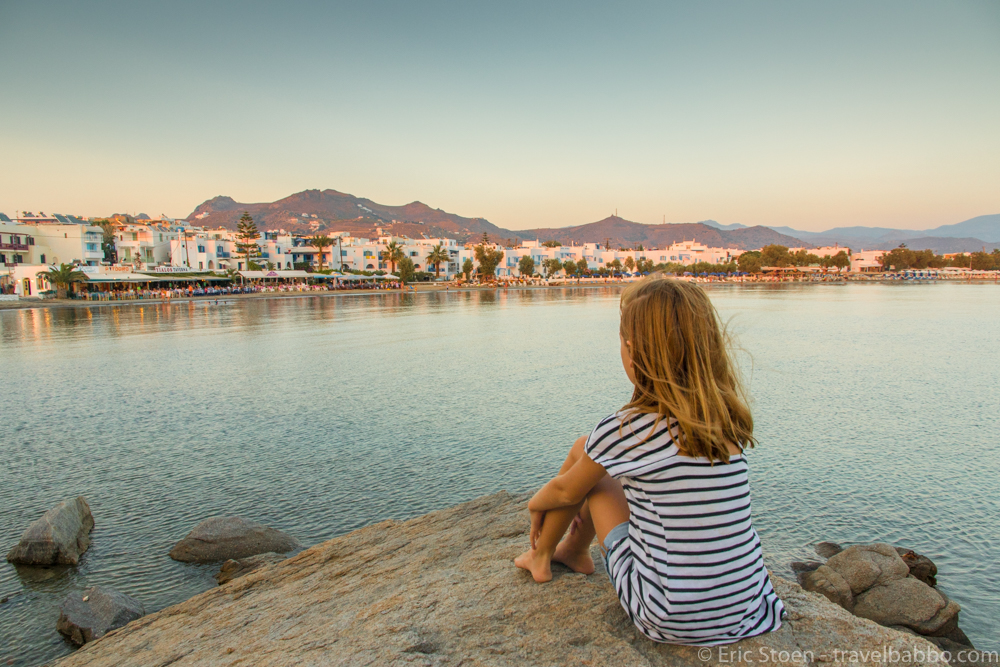Affordable Family Travel - In Naxos, Greece, a great family-friendly summer destination, far less expensive than Mykonos or Santorini
