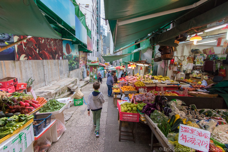 48 hours in Hong Kong: Walking through the fruit markets.