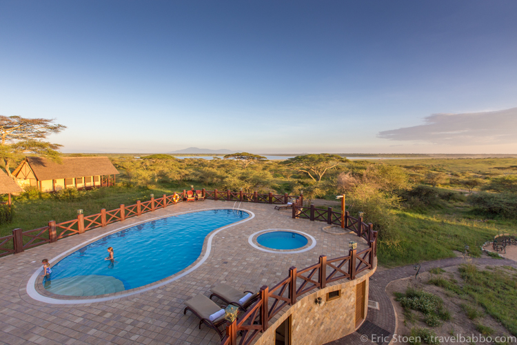 African safari costs - At the Lake Ndutu Tented Camp. We enjoyed swimming in the evenings, but some beach time would have been fun too.