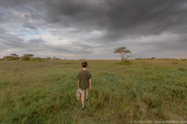 Afford an African Safari - A storm moving into Lake Ndutu. In 15 days this was the only rain that we saw.