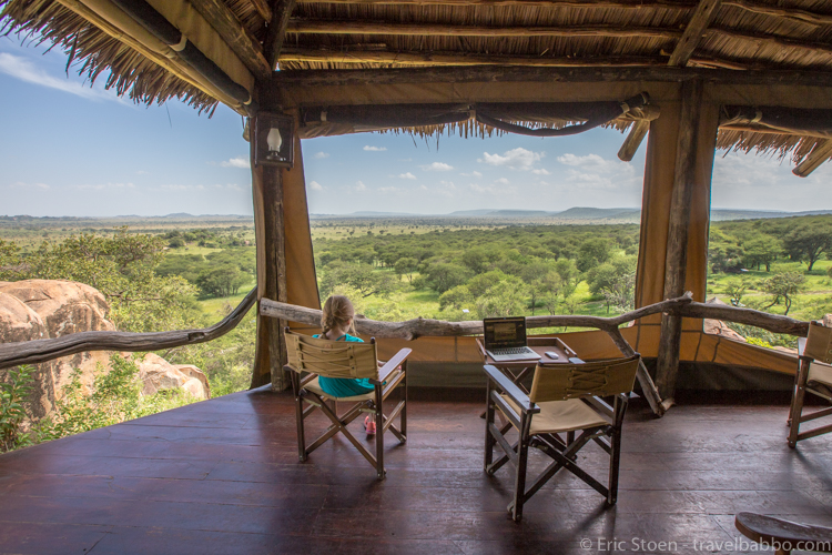 how much does a safari cost Enjoying the view at the Serengeti Pioneer Camp