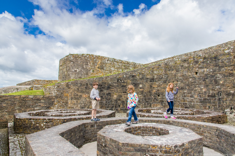 Things to do in Kinsale: Playing at Charles Fort