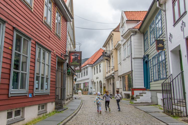 Disney port excursions - Running around Bergen (literally)