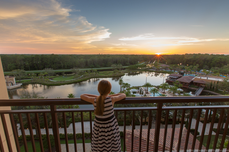 Around the world with kidsd - Sunset at the Four Seasons Orlando