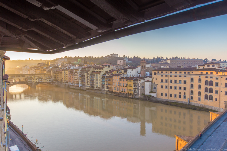 A Week in Florence - The view from our first room at the Antica Torre di via Tornabuoni