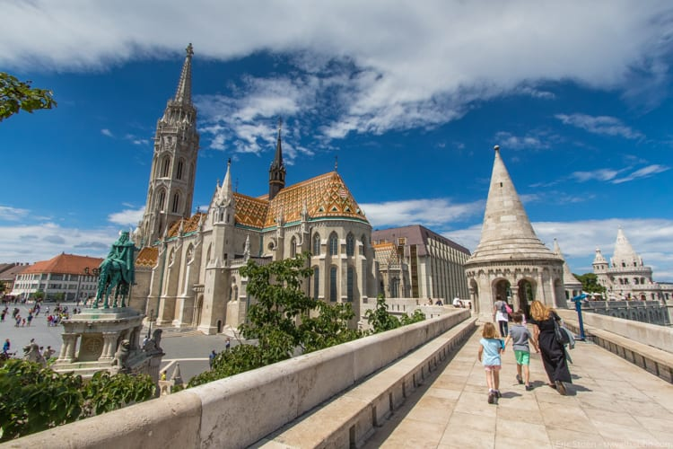 Kid-friendly European cities: Fisherman's Bastion in Budapest