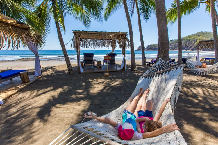 Costa Rica with Kids: There were always hammocks available