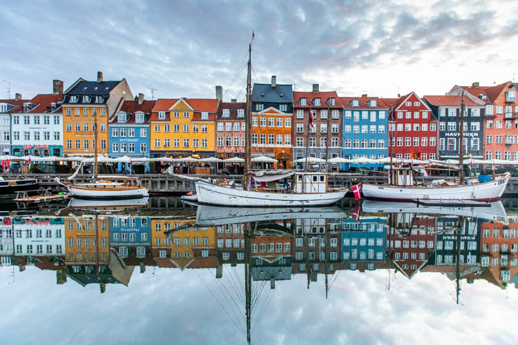 Kid-Friendly European Cities - Copenhagen - Early-morning reflections in Copenhagen - easy to capture when you wake up jet-lagged at 4am at 71 Nyhavn!