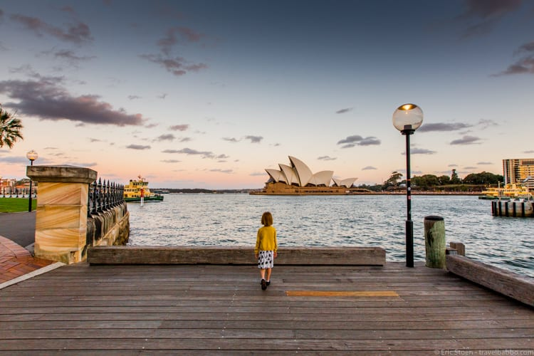 Travel Photography Tips - In Sydney. Shooting in RAW allowed me to correct the exposure more than shooting in JPG mode would have.