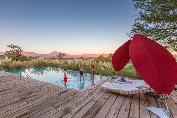Atacama Desert with Kids - Tierra Atacama pool