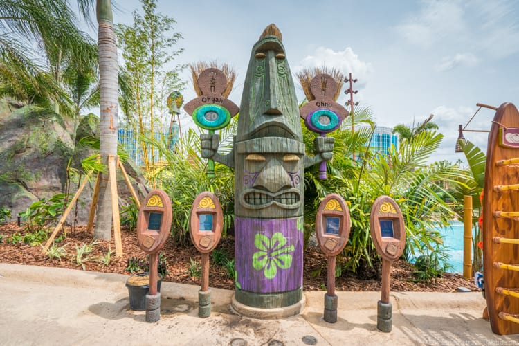 Volcano Bay: The TapuTapu station near Ohyah and Ohno