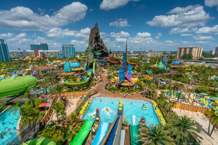 Volcano Bay: Looking down from the top of the Taniwa Tubes