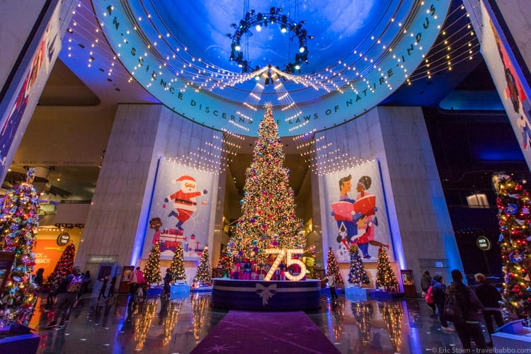 Chicago with kids: Christmas at the Museum of Science and Industry