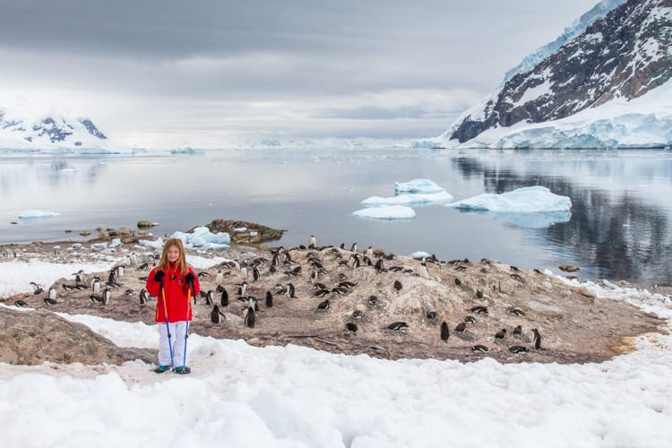 Family travel planning: My 8-year-old daughter in Antarctica