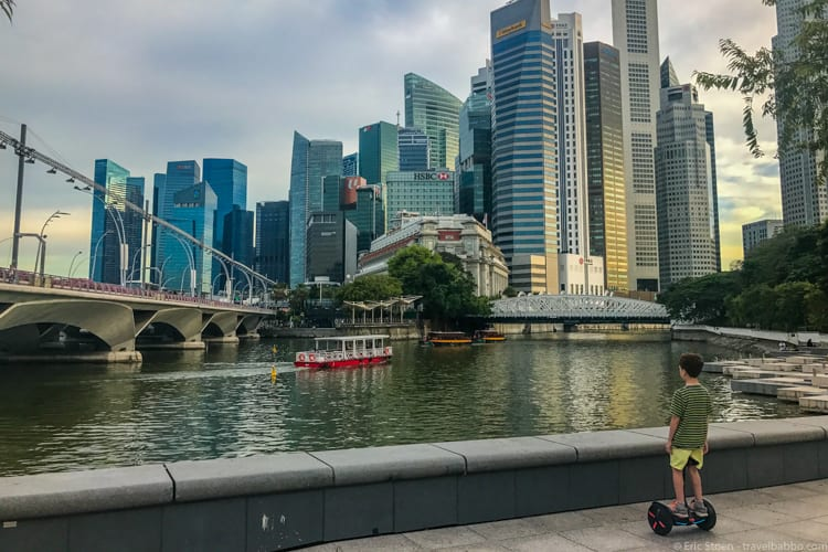 Singapore with kids - Segwaying in Singapore!