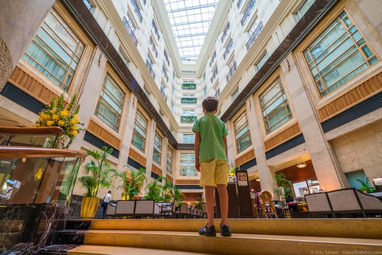 Singapore with kids - Inside The Fullerton Hotel