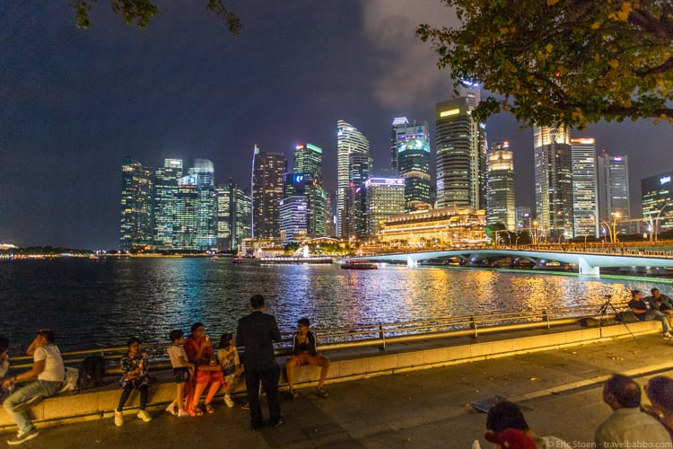 Around the world - I love walking around Singapore's marina at night!