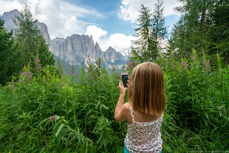 Val di Fassa - Photographing from the hiking viewpoint