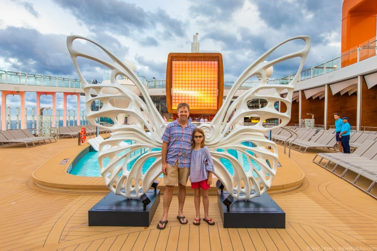 Celebrity Edge - You have to stop at the Wings for a photo!