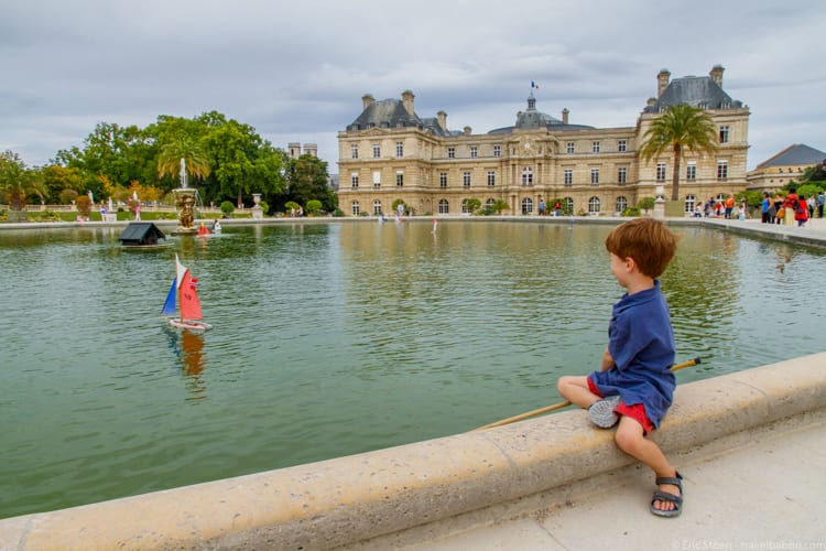 How much does a Disneyland Vacation Cost? Sailing a boat at the Luxembourg Gardens in Paris