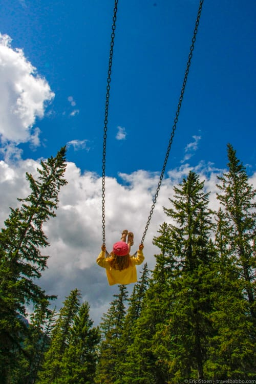 How much does a Disneyland Vacation Cost? Swinging in Banff