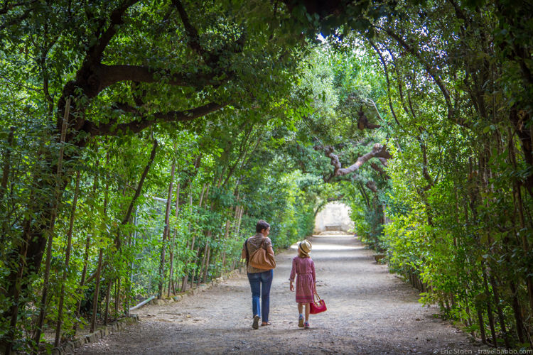 Things to do in Florence with kids - Walking through Boboli Gardens