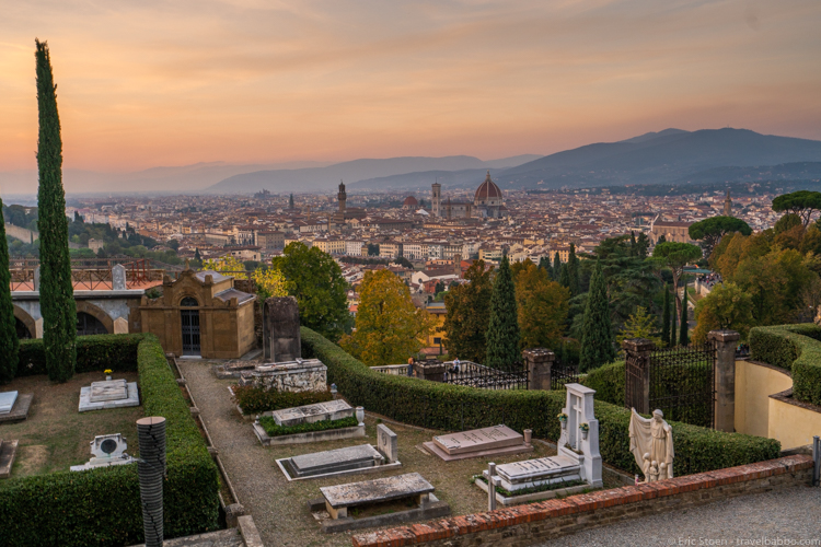Things to do in Florence with kids - Sunset from San Miniato