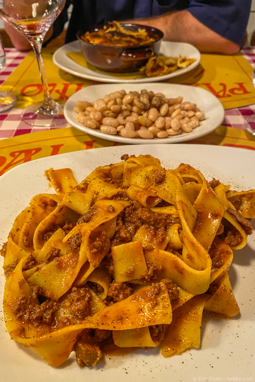 Florence restaurants - Our dinner at Trattoria Pallottino
