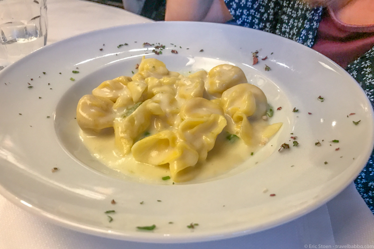 Best restaurants in Florence - The amazing fiocchetti di pera