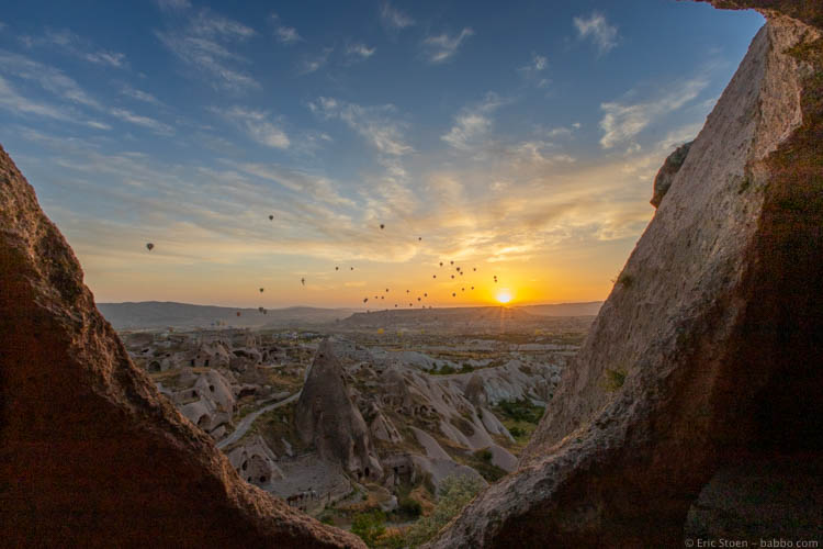 Sunrise our first morning in Cappadocia
