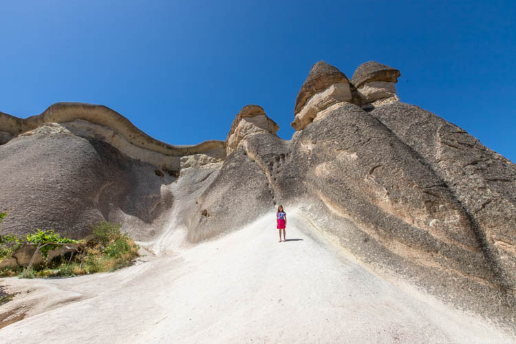 Cappadocia with Kids - Running up rocks at the fairy chimneys