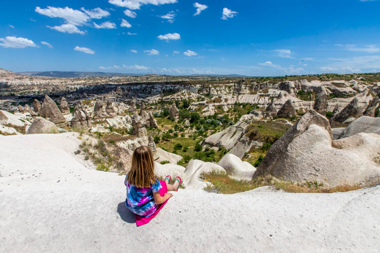 Overlooking Pigeon Valley in Cappadocia