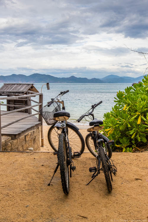 Six Senses Ninh Van Bay - Our bicycles with personalized plates