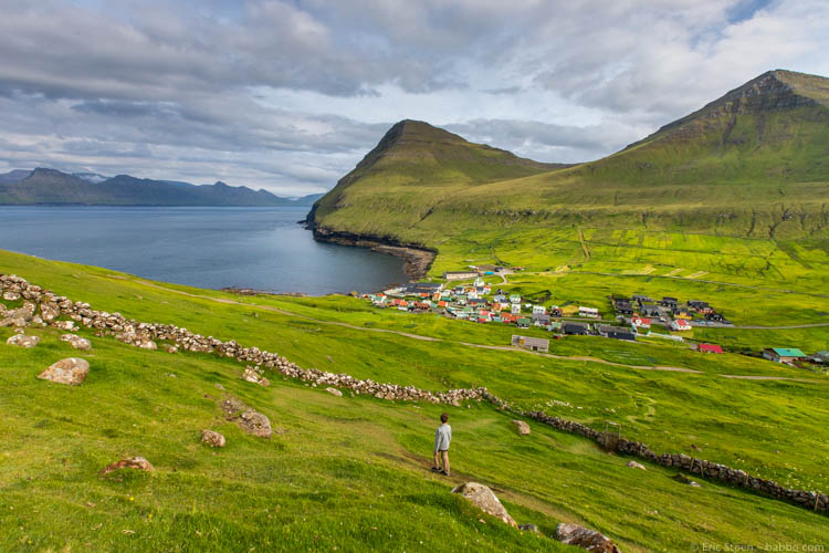 Faroe Islands - Coming back down - through a sheep pasture instead of along the cliff