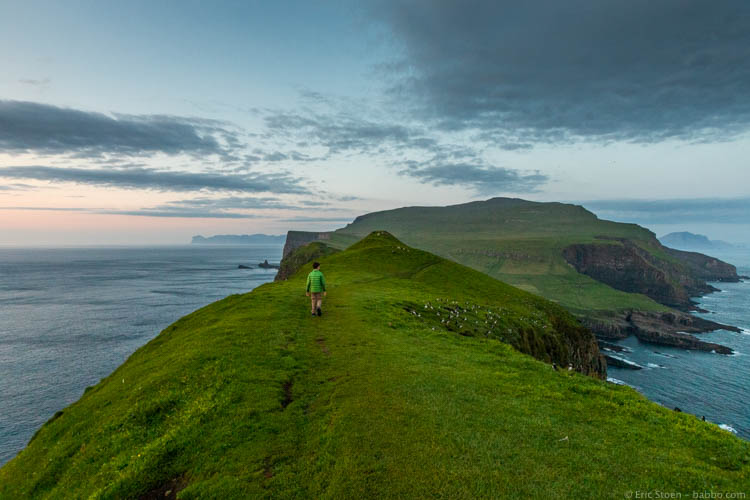 Faroe Islands - Walking back down, past hundreds of puffins. NBD.