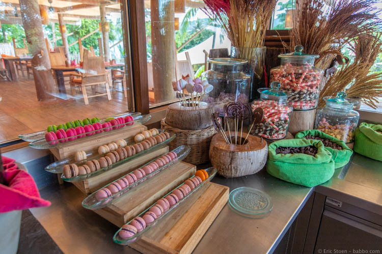 Soneva Kiri - And the macaron section of the chocolate room