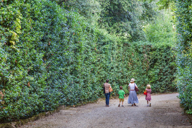 Kid-friendly Europe - Boboli Gardens in Florence