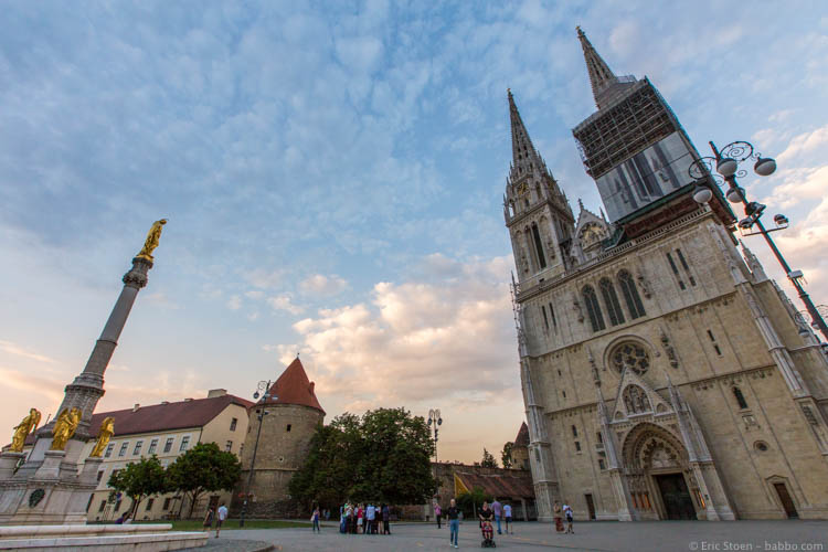 Best family holidays Europe - Croatia - Zagreb Cathedral, the tallest building in Croatia