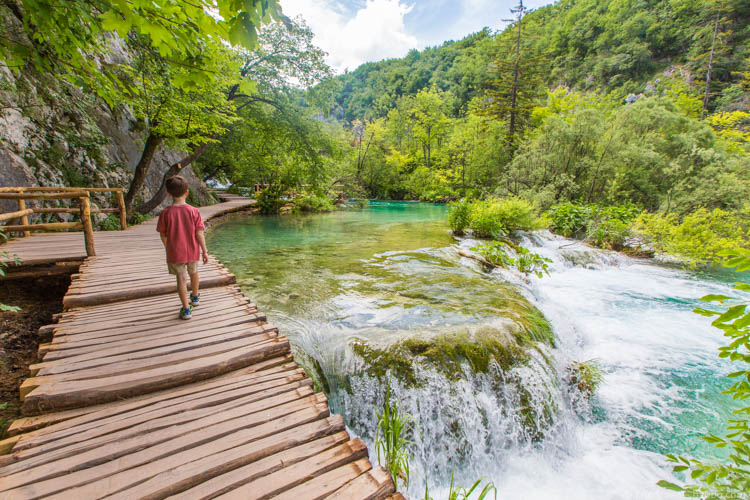 Best family holidays Europe - Croatia - Walking around Plitvice Lakes National Park, just two hours from Zagreb (perfect for city breaks with kids)