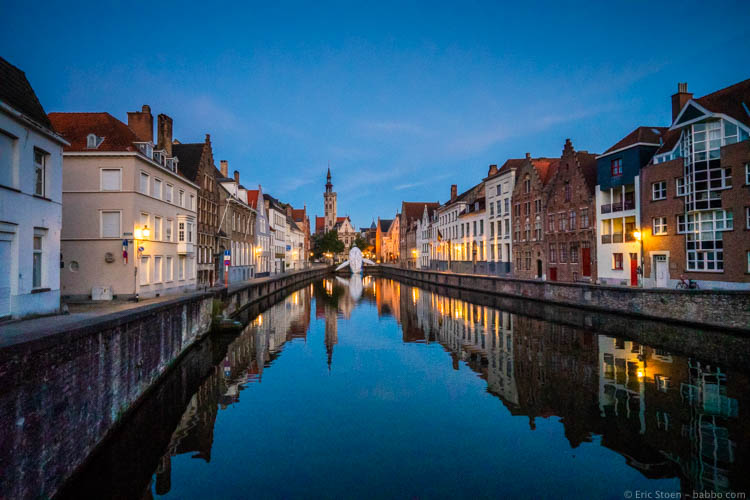 Kid-Friendly European Cities - Bruges - One of the best family holiday destinations in Europe: Bruges in the early morning.