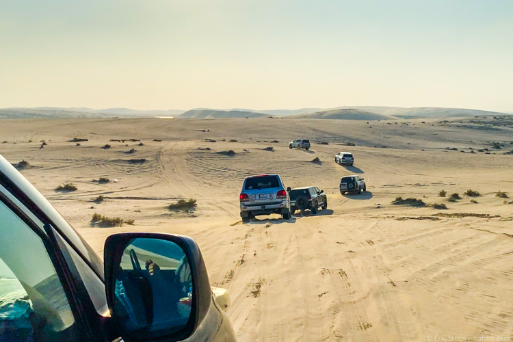 FIFA Club World Cup Qatar - Our dune bashing caravan