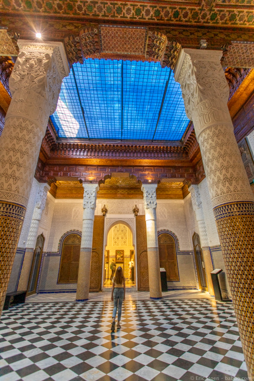 Morocco with Kids - At At Dar El Bacha in Marrakech