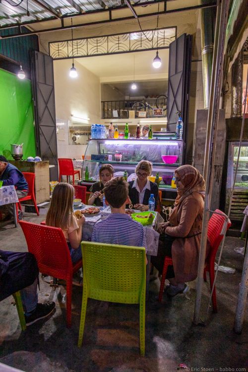 Marrakech with kids - Our favorite dinner of the trip!