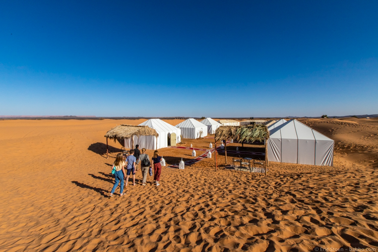 Sahara Desert with kids - arriving at Africa Luxury Camps