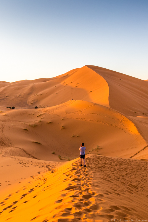 Morocco with Kids - Loved sunset!